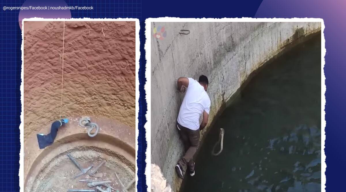 snake. snake viral video, snake rescue video, man jumps in well to rescue snake, viral video, Facebook reactions, trending, indian express news