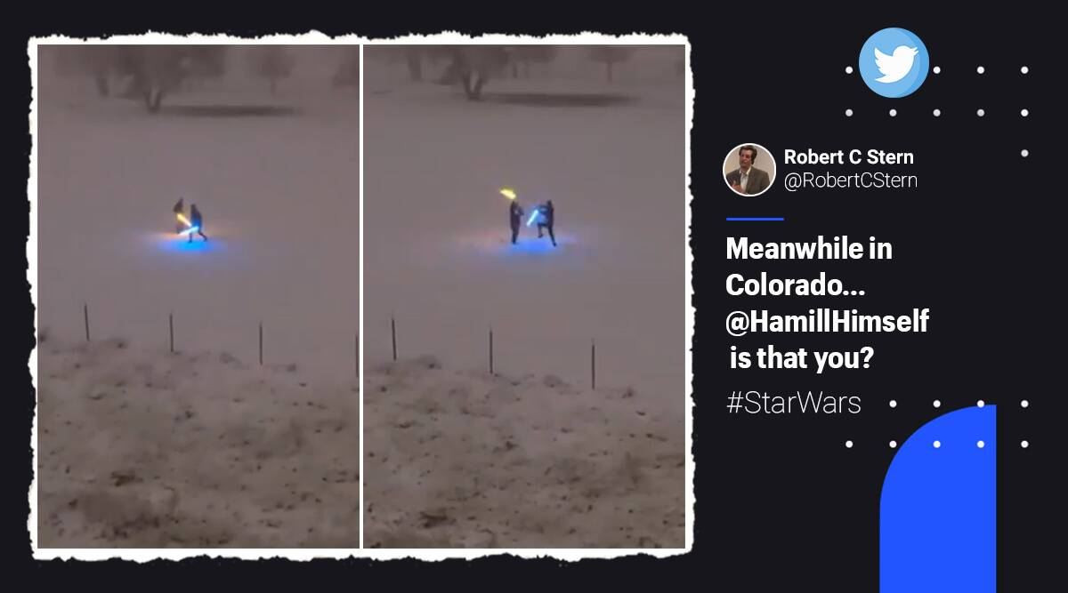 star wars, star wars fight colorado snow, men fight colorado snow, lightsaber fight colorado, viral videos, indian express