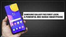 Samsung Galaxy F62 first look: Tall phone, mid-range price
