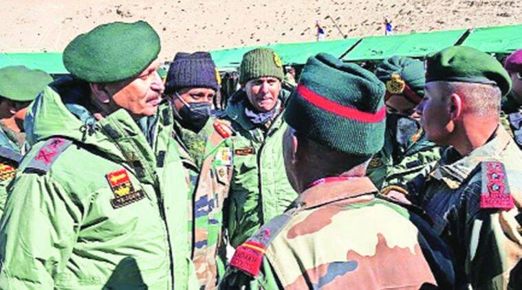 Lt. Gen Y K Joshi, India china standoff, india china border dispute, ladakh border, chines troops, Finger 8, indian express news