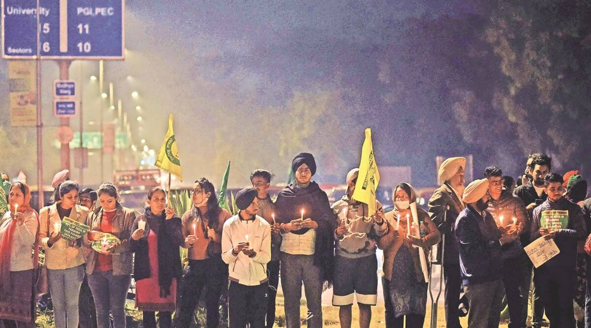 Standing their Ground: Increasing number of Tricity students, youth show solidarity with farmers