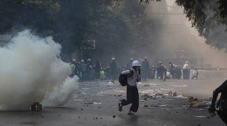Myanmar protests, Fresh protests in Myanmar, Myanmar military, Myanmar border, Aung San Suu Kyi, Myanmar news, world news, indian express news