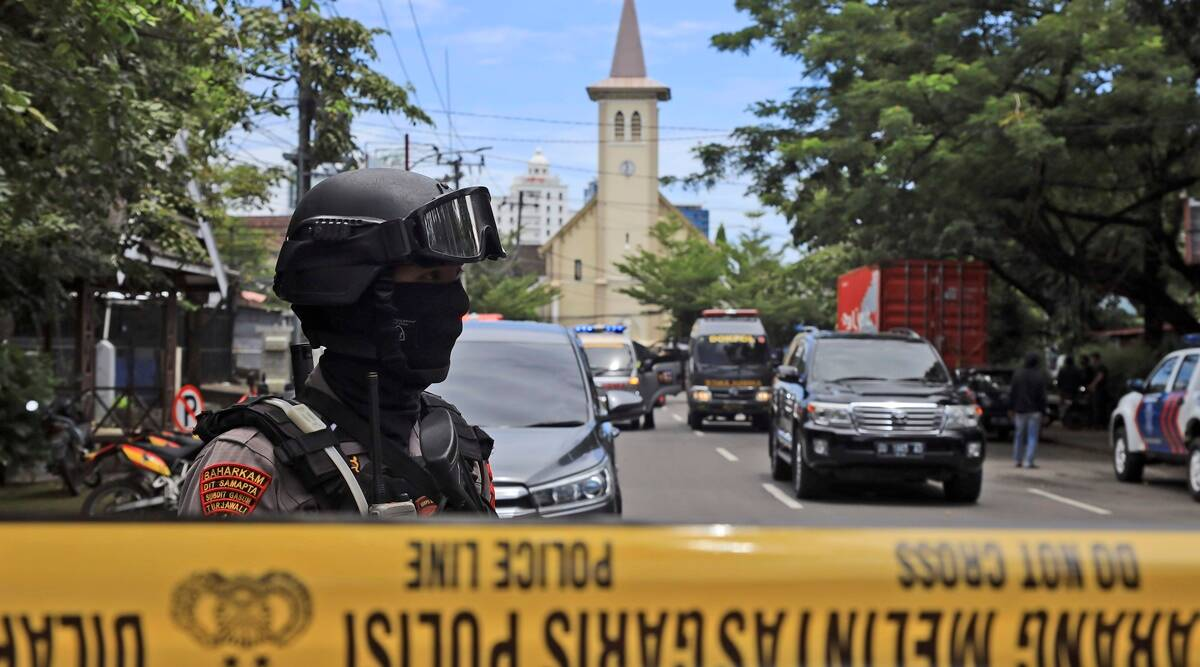 Suspected suicide bombing at Indonesian church wounds 14 people - The Indian Express