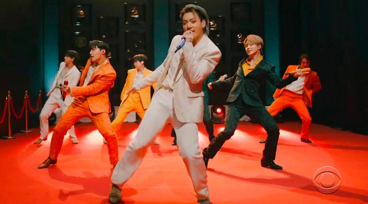 Grammy Awards 2021: Fans dub BTS performance 'dynamite', slam award show as K-pop band loses - The Indian Express