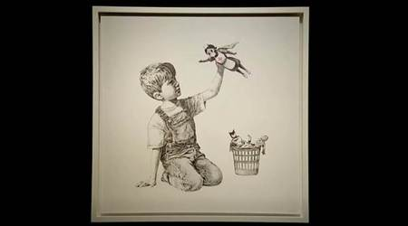 Banksy, Banksy game changer auction, Banksy artwork, Banksy NHS artwork, Banksy christie's sale, who is Banksy, Banksy real name, Banksy art auction, Banksy news