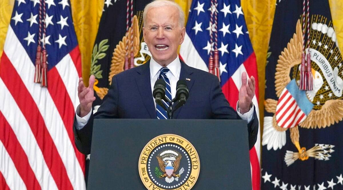 Us jobs, Joe Biden, US jobs during Covid, Us jab creation, Joe Biden on employment, world news, Indian express