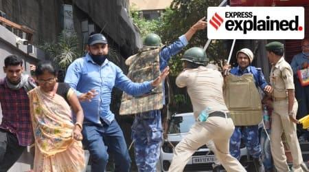 Bihar, Bihar Assembly, Bihar Special Armed Police Bill, Bihar Assembly protests, Bihar Opposition, Indian Express