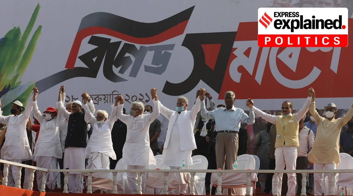 Brigade Ground rally, Kolkata Brigade Parade Ground rally, West Bengal elections, West Bengal politics, West Bengal Assembly Elections 2021, West Bengal election news, election campaign, AIUDF, Indian Express