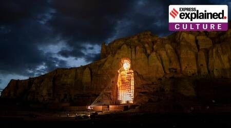 Bamiyan Buddhas, Bamiyan Buddhas 3D projection, Bamiyan Buddhas Taliban, Taliban blows up Bamiyan Buddhas, What is Bamiyan Buddhas, Indian Express