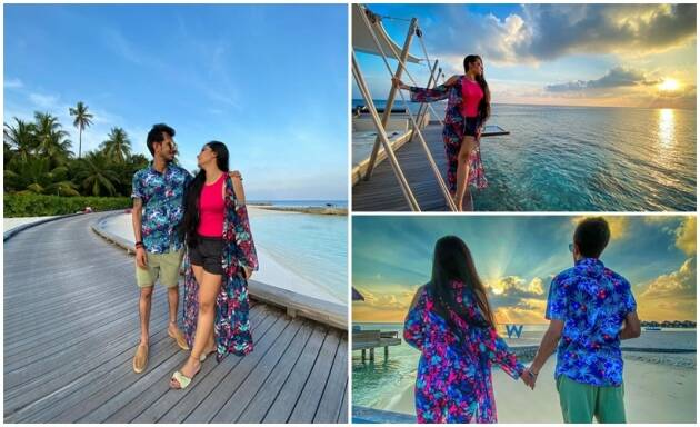 Dhanashree Verma and Yuzvendra Chahal maldives photos