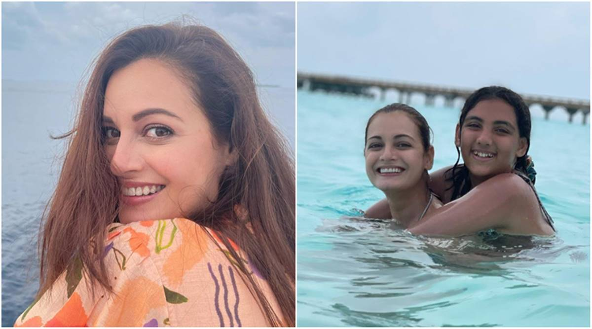 Dia Mirza with her step daughter