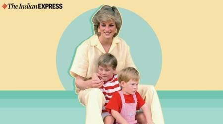 Prince William, Prince William and Diana, Prince William remembers Princess Diana, Diana's grandchildren, Duke and Duchess of Cambridge, cards made by Prince George, Princess Charlotte, and Prince Louis for Diana, indian express news