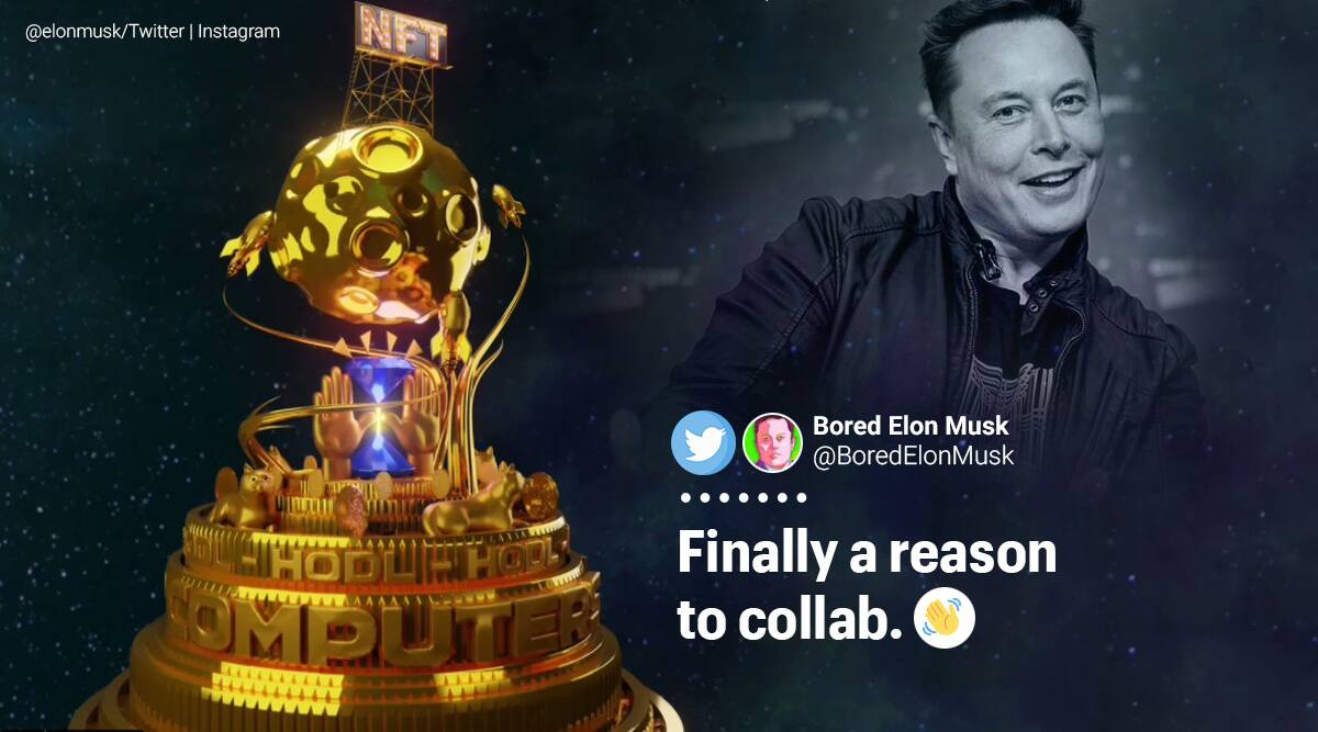 Elon Musk, NFT-themed song, NFT-themed song memes, Elon Musk NFT song memes, Elon Musk NFT song reaction, NFT, NFT memes, NFT music video, Elon Musk memes, Twitter reactions, Elon Musk Twitter, Trending news, Elon musk music track, Indian Express news.
