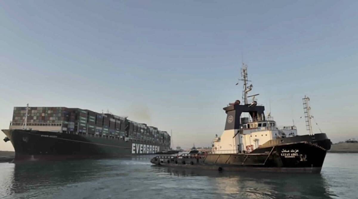 Suez Canal: Breakthrough as huge container ship 'partially refloated'