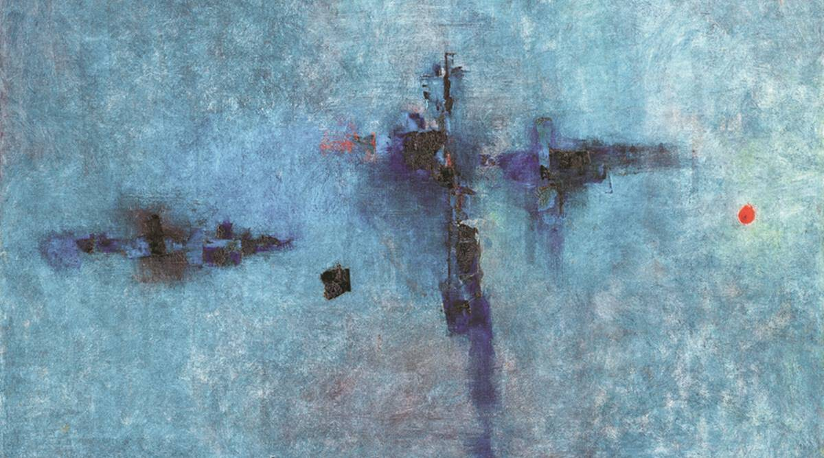 V S Gaitonde, V S Gaitonde art, V S Gaitonde painting sold, V S Gaitonde painting auction, Saffronart Spring Live Auction, indian art, indian express news
