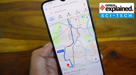 Google Maps, Google Maps routes, Google Maps eco-friendly routes, Indian Express