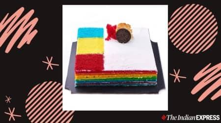 rainbow cake, easy recipe rainbow cake, how to make rainbow cake at home, holi dessert recipes, rainbow cake holi recipe