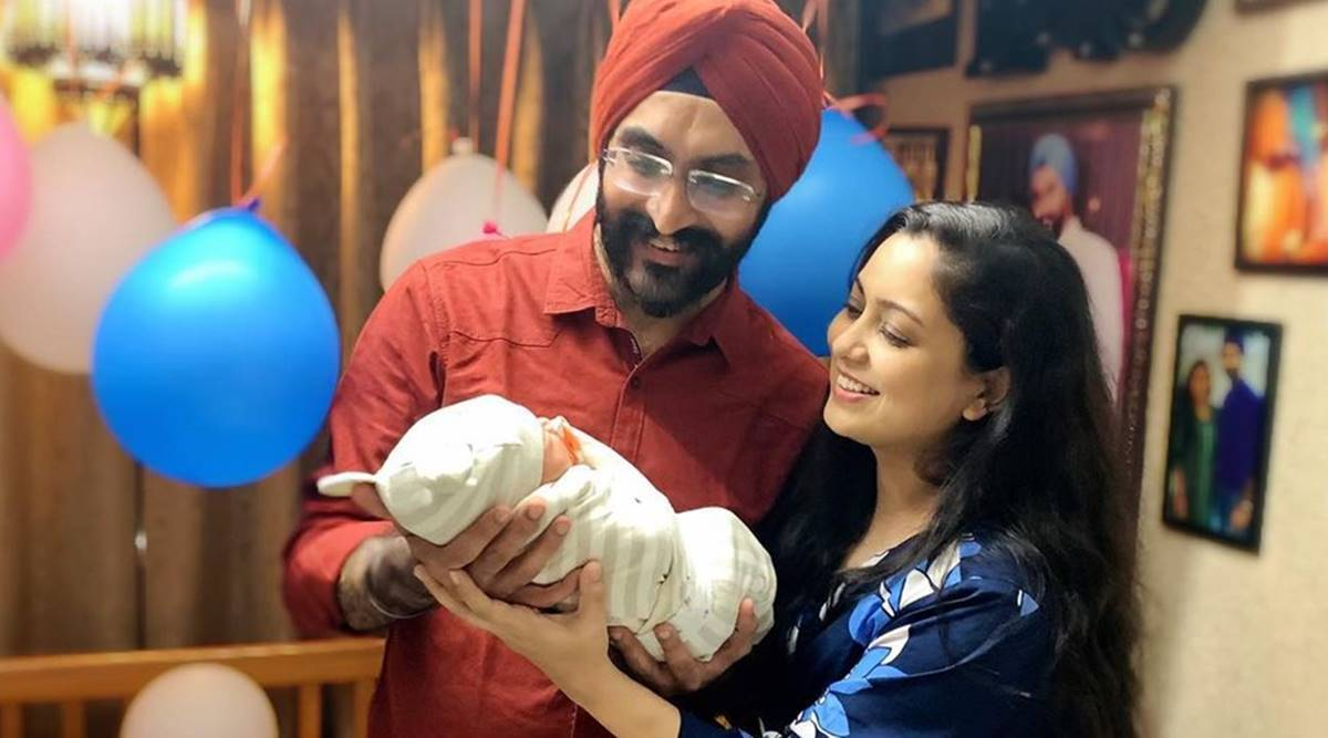 Harshdeep Kaur shares first picture of her son, says 'Thank you from the 3  of us' | Entertainment News,The Indian Express