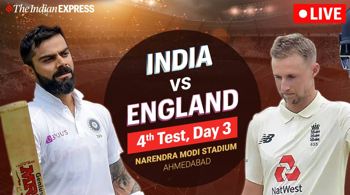 India vs England 4th Test Day 3 Live Cricket Score: Sundar, Axar resume India innings