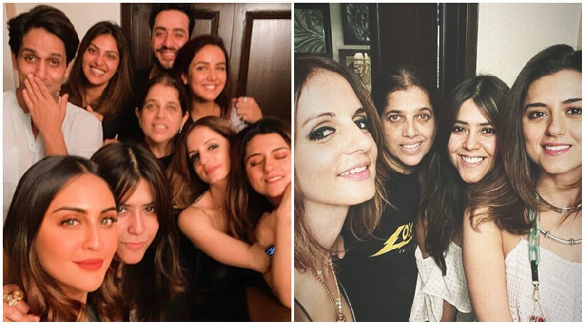 Jasmin Bhasin, Aly Goni, Sussanne Khan and rumoured beau Arslan Goni praties with Ekta Kapoor and others, see photos