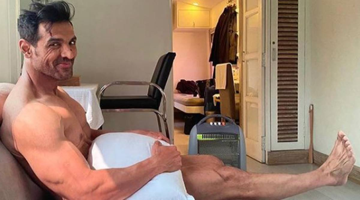 John Abraham shares pic as he 'waits for the wardrobe', fans ask 'bhai  kapda?'   Entertainment News,The Indian Express