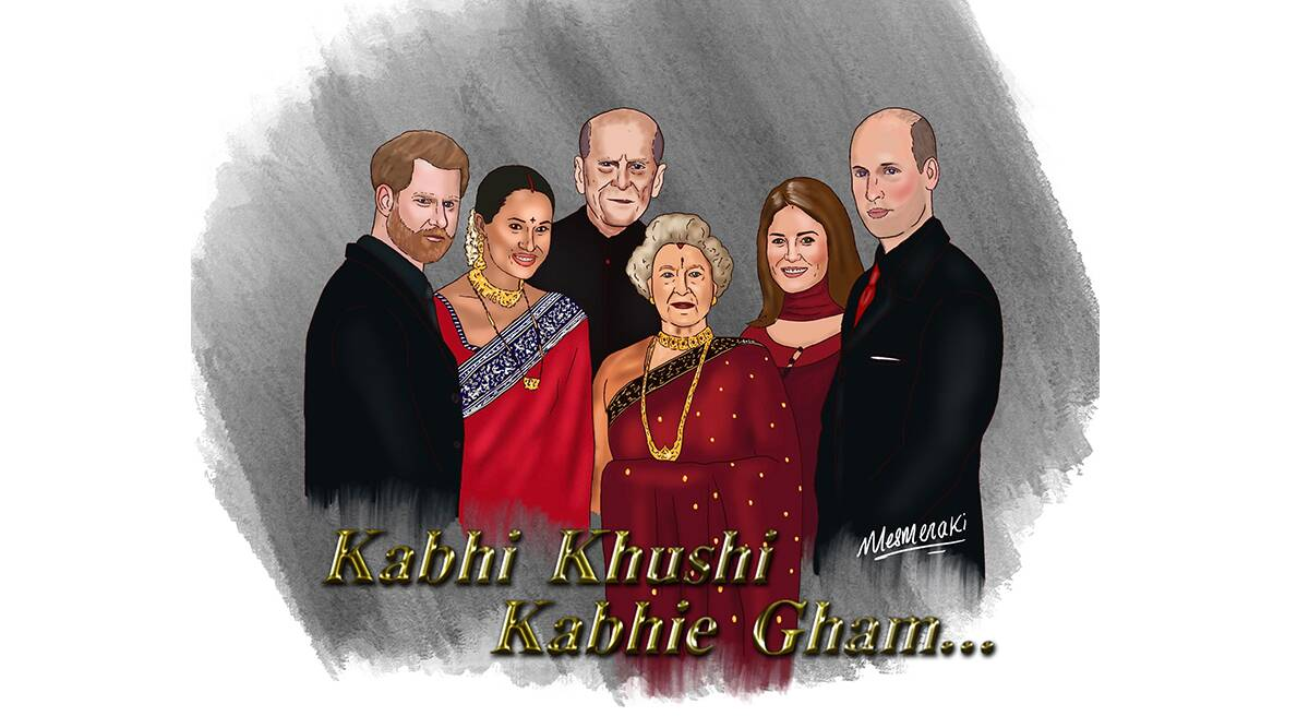 When the Raichands met the Windsors: An illustrator's desi take on the  Royals' exit | Lifestyle News,The Indian Express