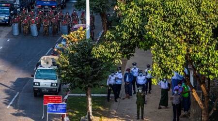 Myanmar security forces, Myanmar forces, Myanmar protest, Myanmar news, Myanmar army, world news, indian express