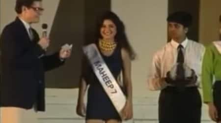 maheep kapoor tbt miss india video