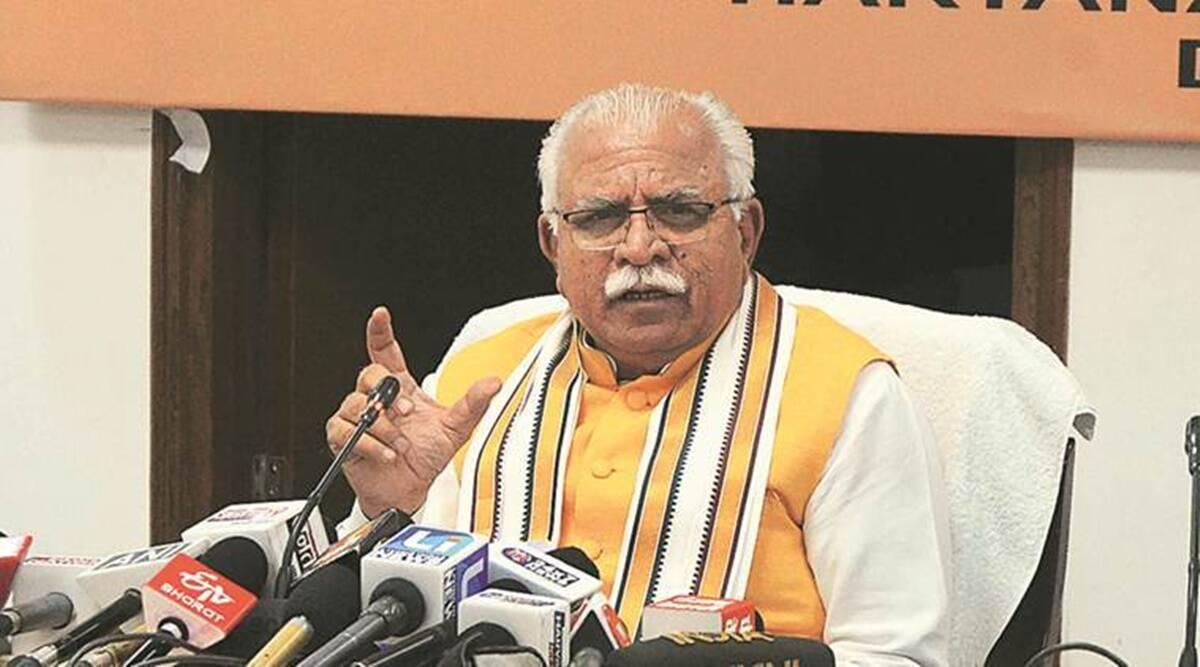 Manohar Lal Khattar, Sanitation workers, Haryana, sanitisation workers in haryana, salary of sanitisation workers in haryana, haryana covid-19 cases, haryana news, indian express