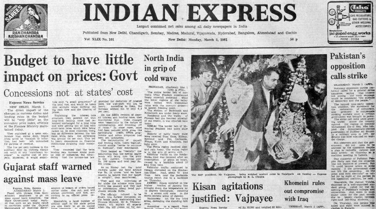 Forty Years Ago, March 2, 1981: Budget and prices