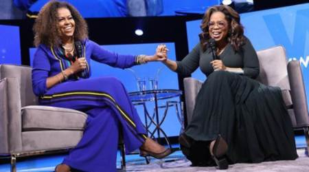 Michelle Obama, Michelle Obama on Harry and Meghan, Michelle Obama on Harry Meghan interview with Oprah, Michelle Obama news, Michelle Obama talks about Barack Obama, indian express news