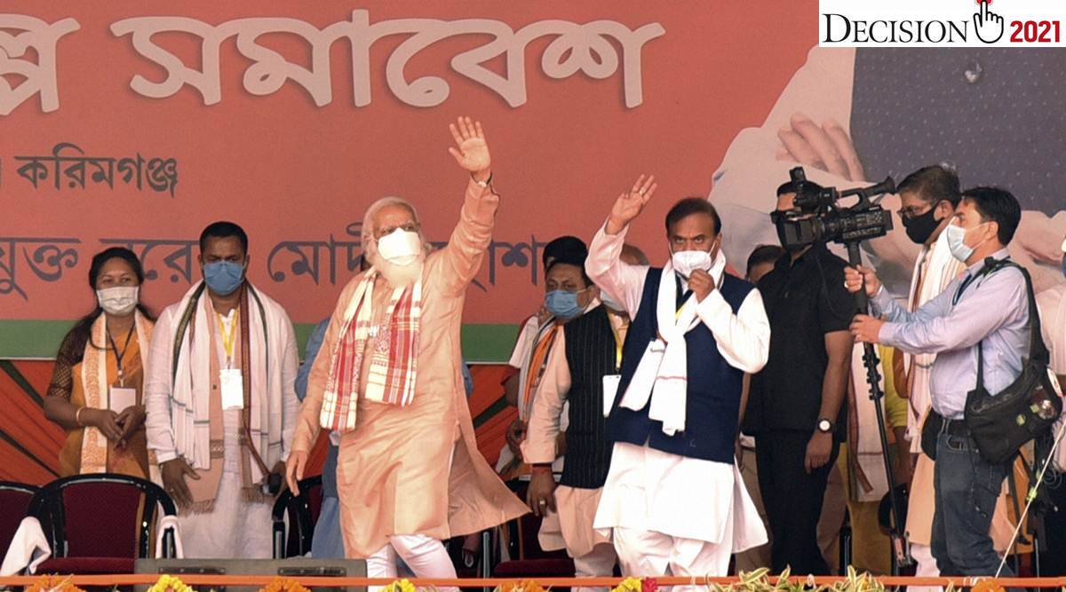narendra modi, modi in assam, pm modi in assam, assam assembly elections 2021, assam elections, assam news, indian express news