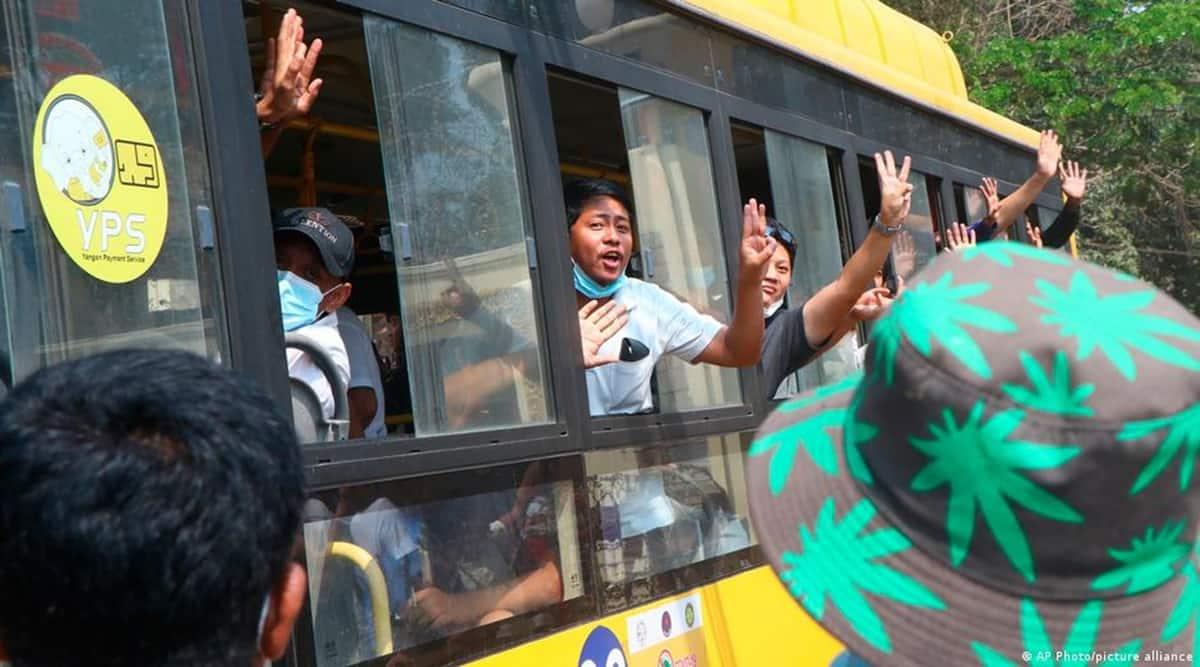 Myanmar prisoners released, Myanmar coup