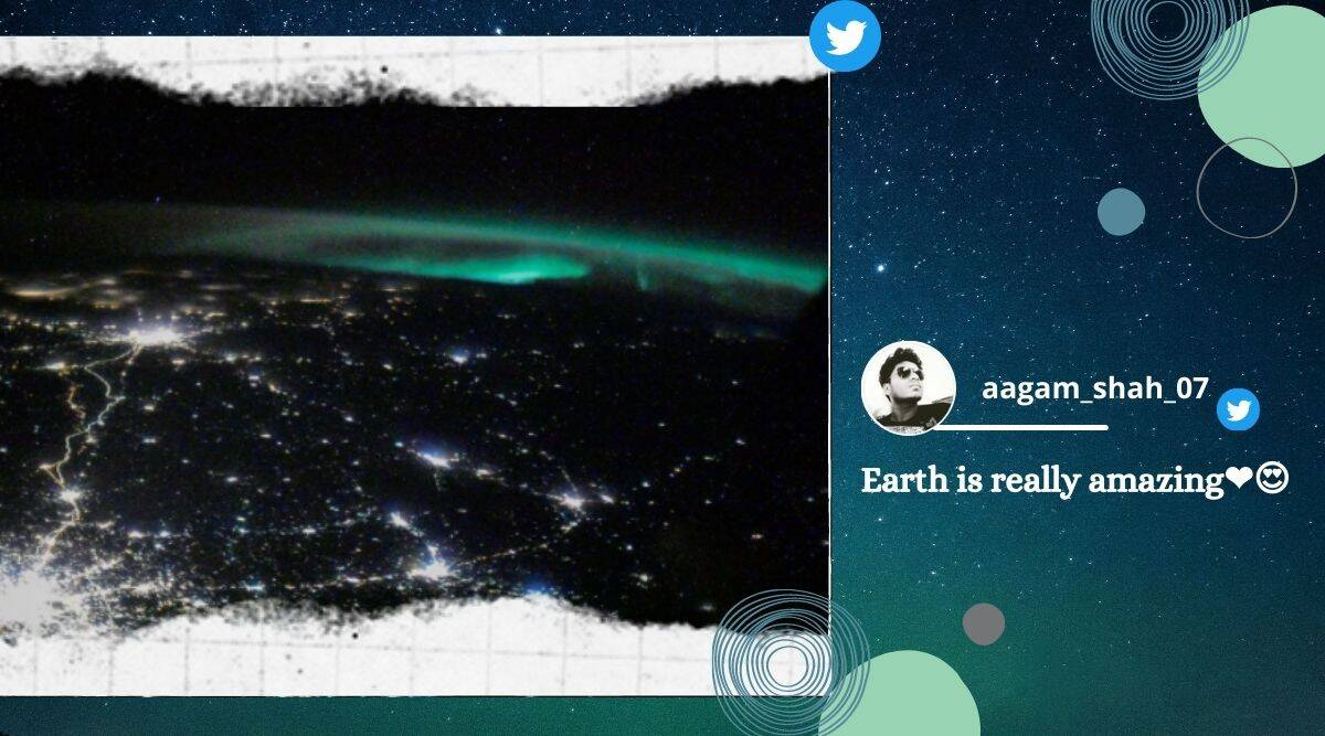 NASA, NASA Instagram, NASA ISS, International Space Station, Moscow city lights from space, Moscow city images from space, Moscow city images by ISS, Moscow city aurora images by ISS, Trending news, Indian Express news