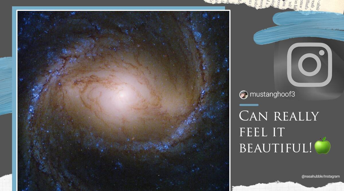 NASA, NASA spiral galaxy, NASA Instagram, NASA spiral galaxy image, NASA Hubble, Hubble telescope galaxy image, NASA M91 image, M91 galaxy pictures, Trending news, India Express news