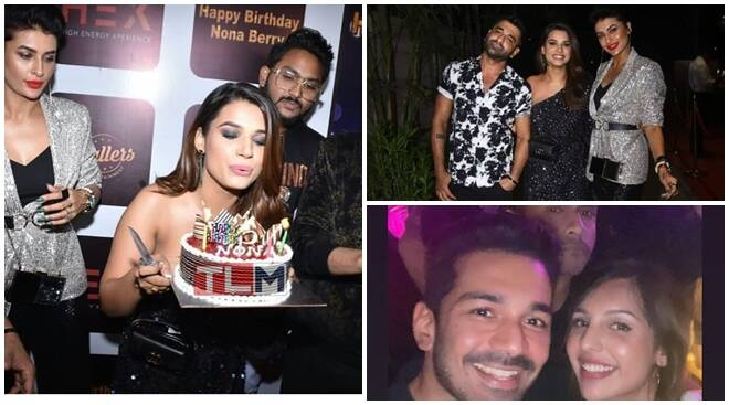 Naina Singh birthday party: Eijaz-Pavitra walk in holding hands, Abhinav Shukla attends without Rubina - The Indian Express