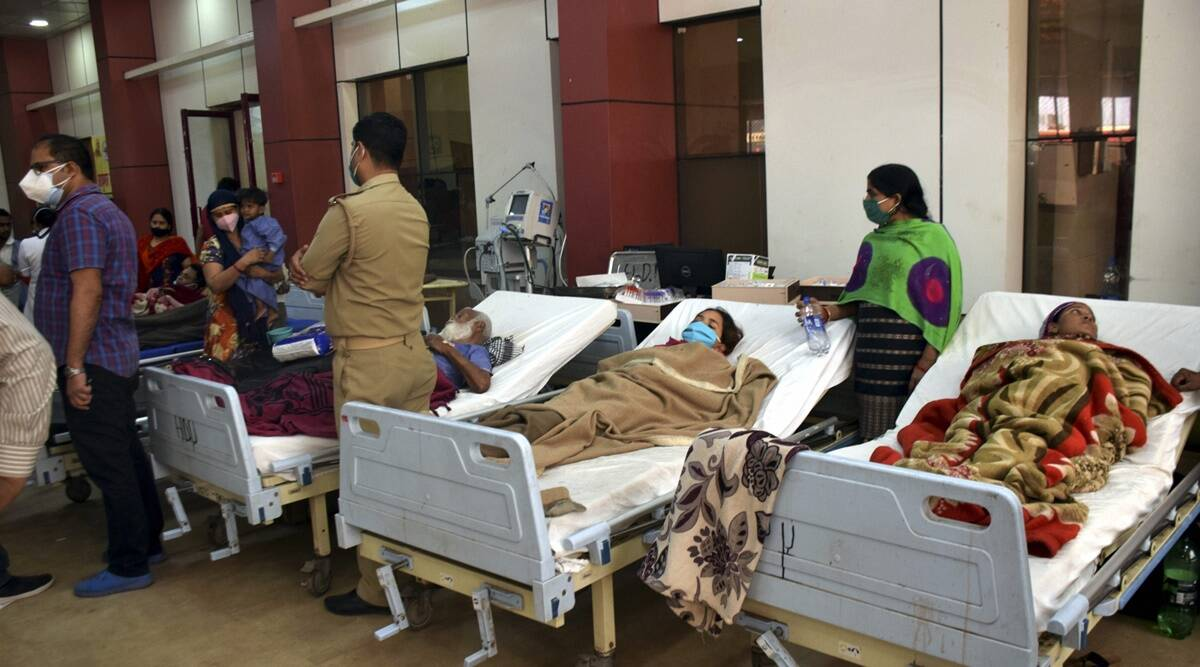 Kanpur fire, Kanpur hospital fire, Intensive Care Unit fire, LPS Institute Of Cardiology, LPS Institute Of Cardiology fire, Kanpur news, indian express