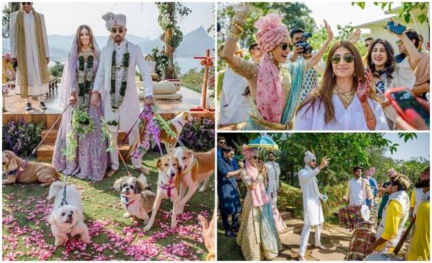 Priyaank K Sharma Shaza Morani wedding photos Padmini Kolhapure Shraddha Kapoor