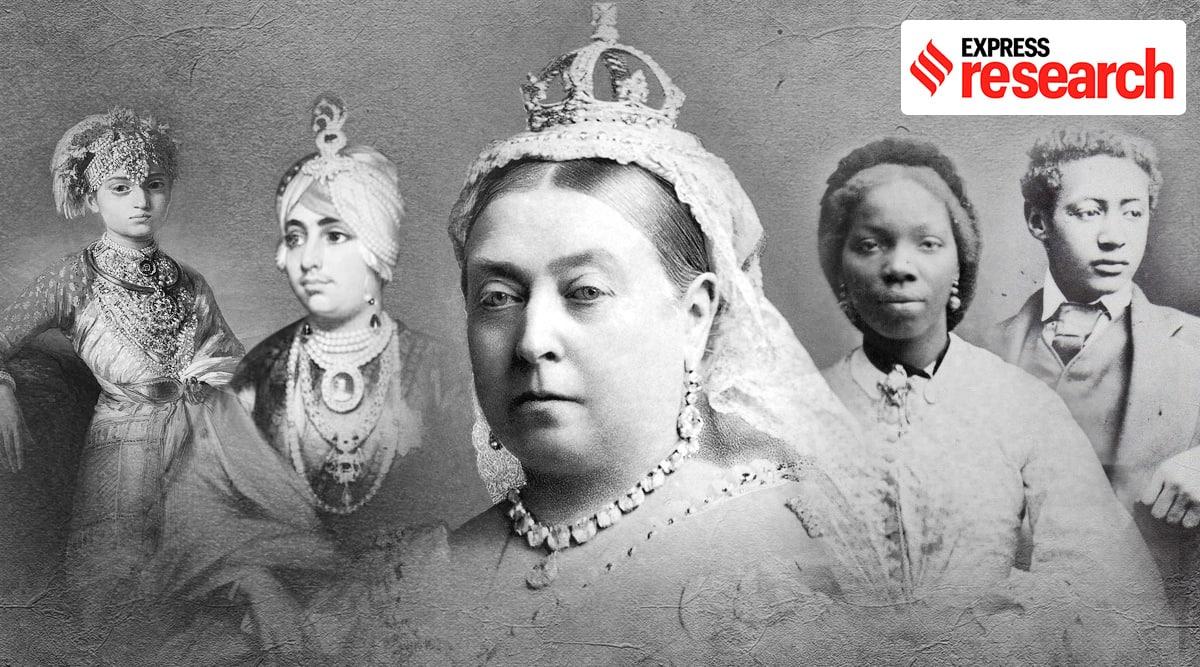 Queen Victoria, Queen Victoria colonial grandchildrean, Meghan Markle, Prince Harry, Princess Gouramma, Duleep Singh, British Royal family, Express Research, Indian express