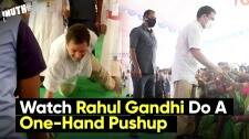 Watch Rahul Gandhi Do A One-Hand Pushup