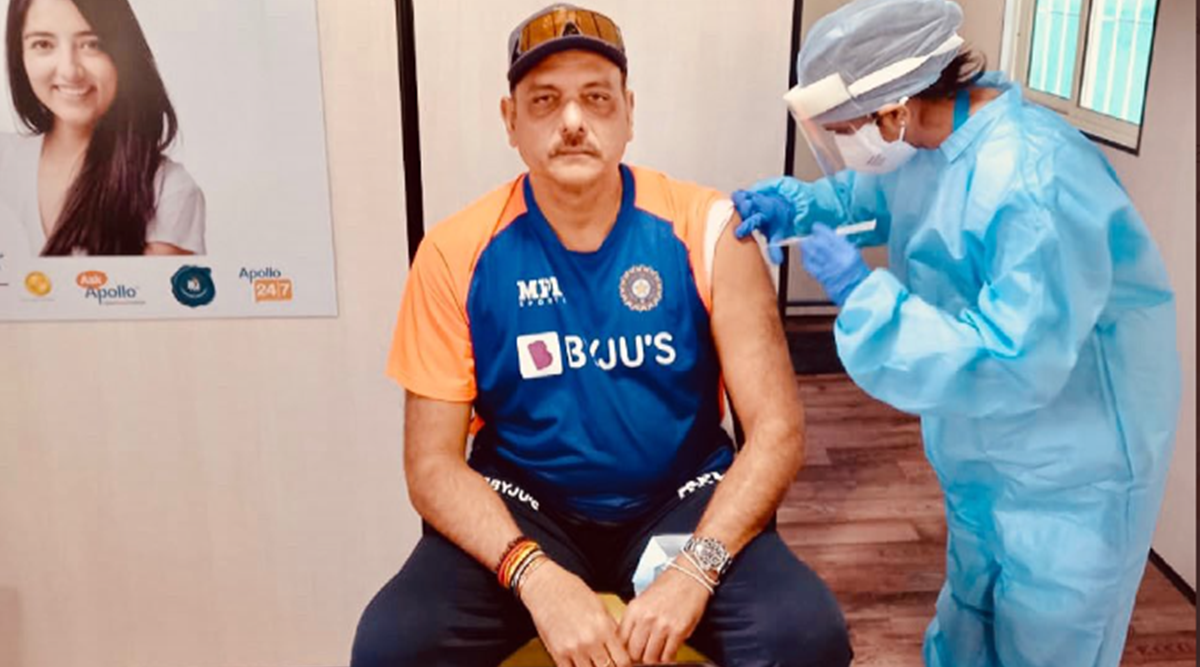 Ravi Shastri receives first dose of COVID-19 vaccine in Ahmedabad - The Indian Express