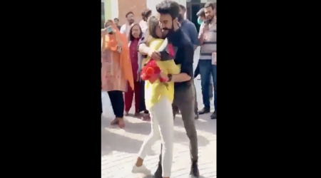University of Lahore, Lahore proposal video, Lahore proposal video Students expelled, Couple proposal Lahore, Students expelled proposal video, Indian Express News