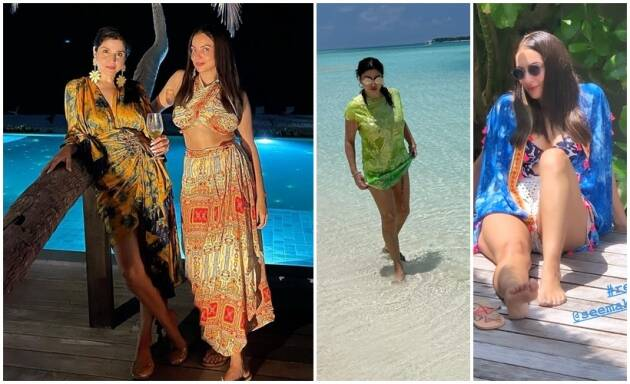 Seema Khan Maheep Kapoor Maldives vacation photos The Fabulous Lives of Bollywood Wives