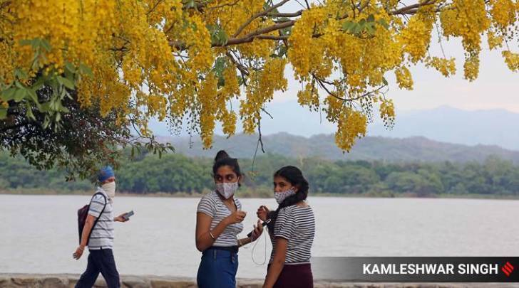Chandigarh's mask challaning graph dwindles amid virus surge in city