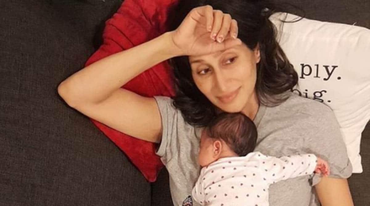 Teejay Sidhu, Teejay Sidhu on motherhood, Teejay Sidhu Instagram post, Teejay Sidhu on pregnancy, Teejay Sidhu daughters, Shay Mitchell on pregnancy and motherhood, indian express news