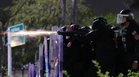 Thai police use tear gas, rubber bullets to break up protest