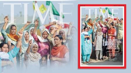 India's farmers' protests, Time magazine international cover, women farmers, farmers' protests, indian express news