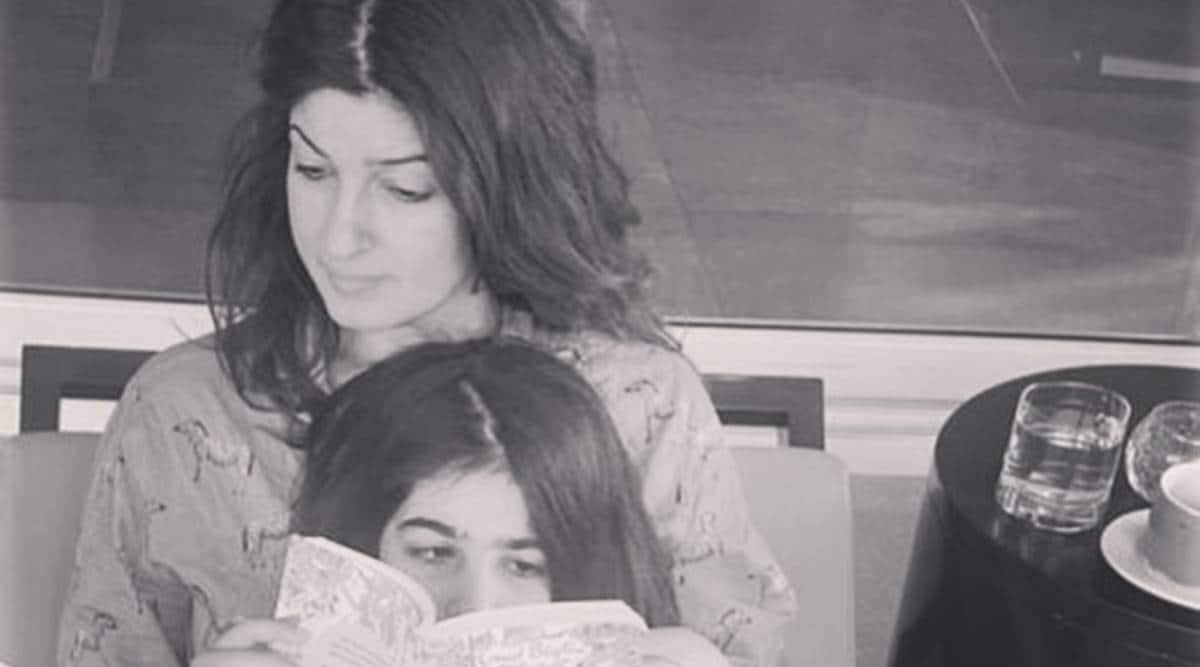 Twinkle Khanna with daughter Nitara