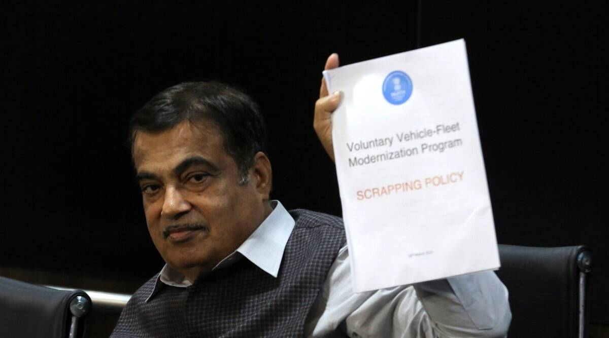 Vehicle scrapping policy, Nitin Gadkari, air pollution, india news, india electric car launch date, indian express