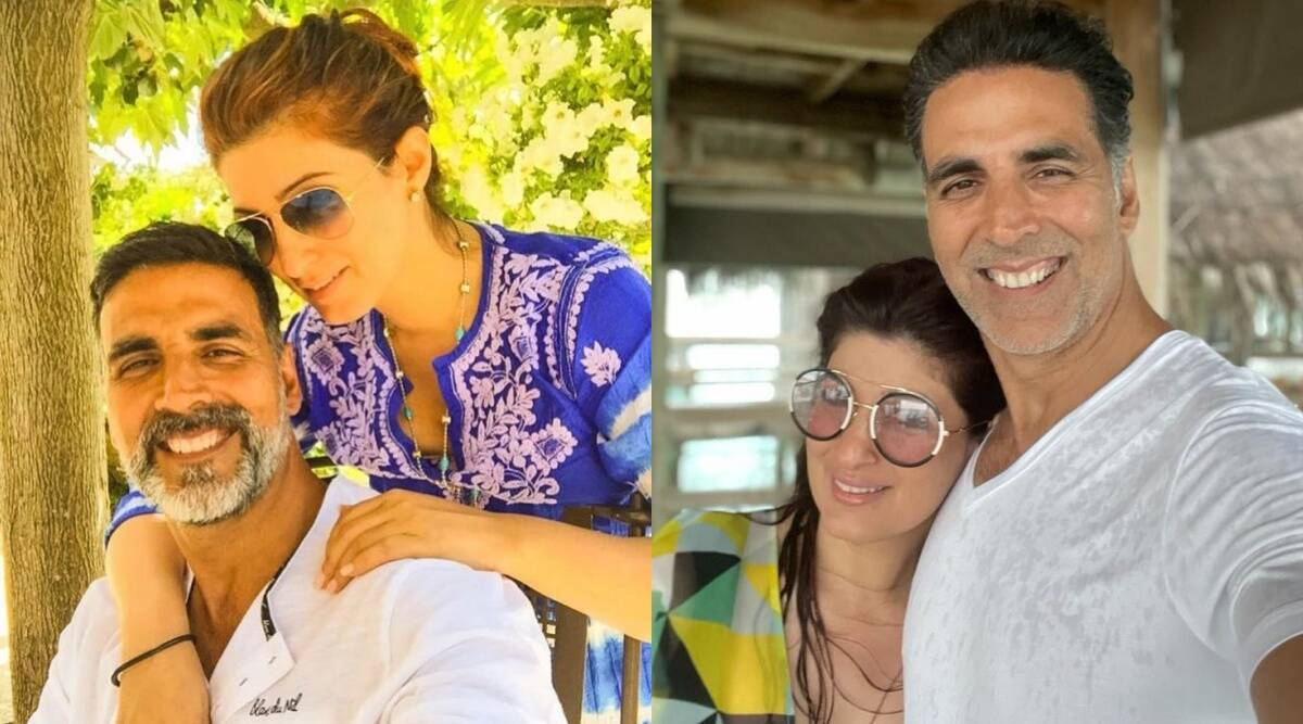 Akshay Kumar, Twinkle Khanna share photo of their 'happy place' as they enjoy beach vacation - The Indian Express